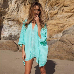 Lace Crochet Beach Cover-Up - Cheap Swimwear