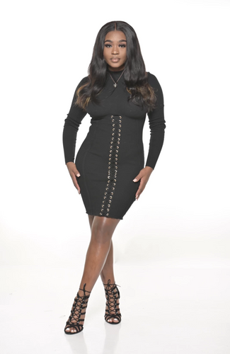 BLACK CORSET DRESS - So Plush Boutique