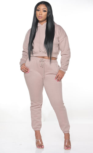 LILAC CROPPED JOGGER SET - So Plush Boutique