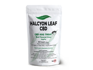 HALCYON LEAF CBD 2 MG 50 COUNT OR 25 COUNT CBD PET SUPPLEMENT - ZERO THC