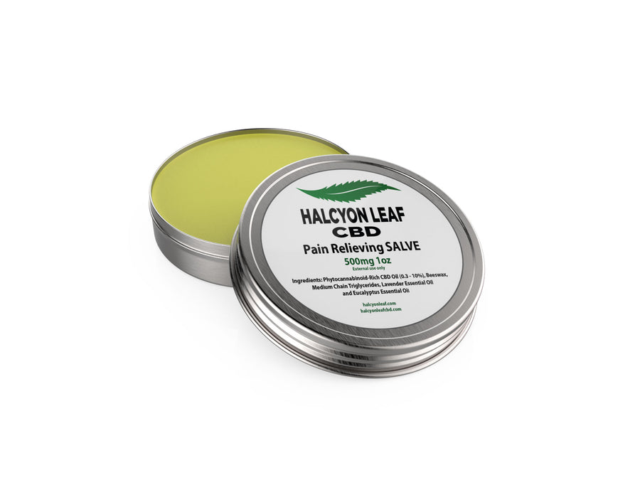 HALCYON LEAF CBD HIGH POTENCY 500 MG PAIN RELIEVING SALVE/BALM