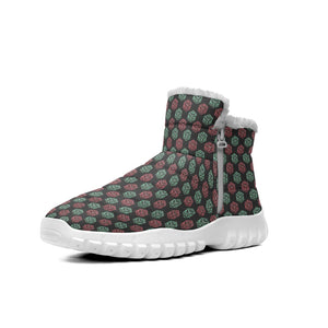 D20 Rpg Pattern Christmas Red Green Fantasy Dice  Snow Boots Outdoor