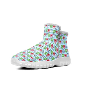 Cute Optometrist Peace Love Optometry  Snow Boots Outdoor