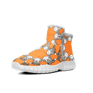 Cute Reindeer Deer Cottage Orange Snow Boots Outdoor