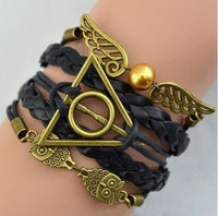 Deathly Hallows Bracelet - Black - cute