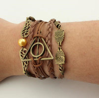 Deathly Hallows Bracelet - Brown - cute