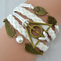 Deathly Hallows Bracelet - White - cute
