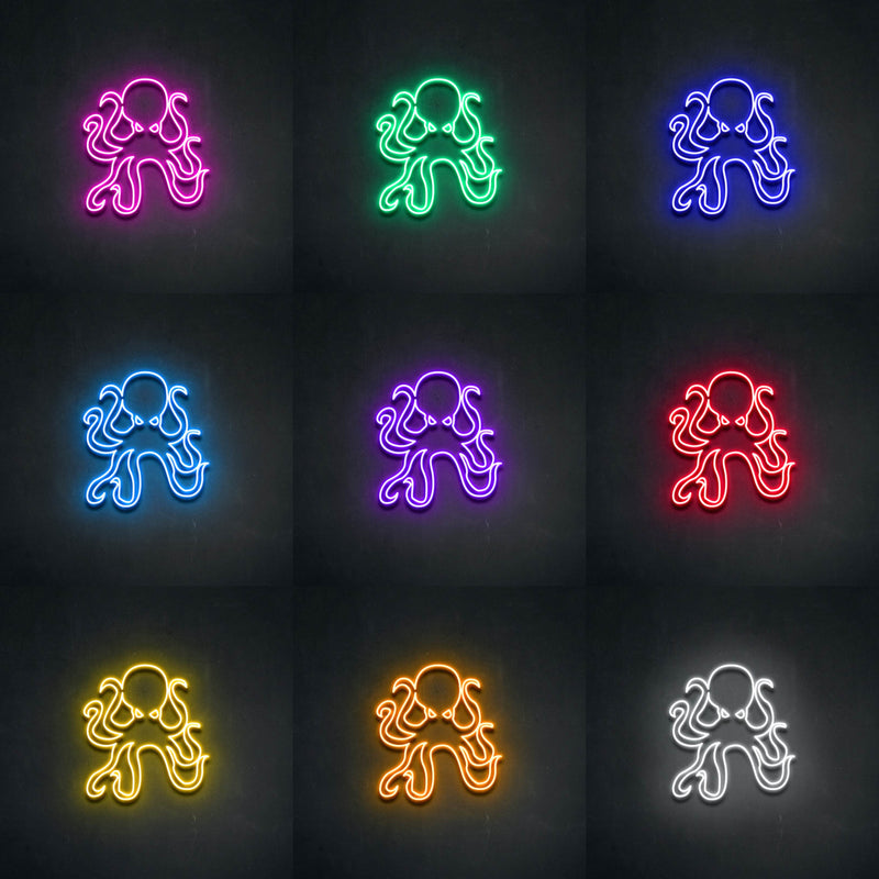 'Octopus' Neon Sign-Neon Beach