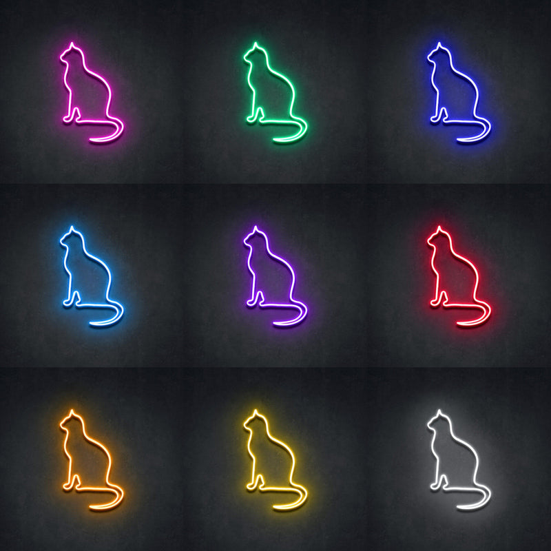 'Peaceful Cat' Neon Sign