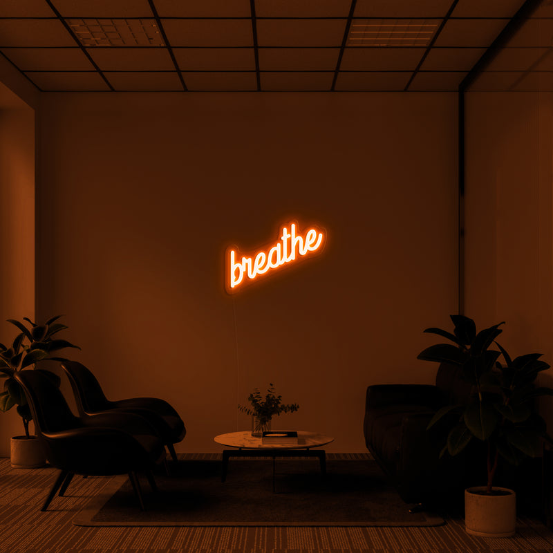 'Breathe' LED Neon Sign