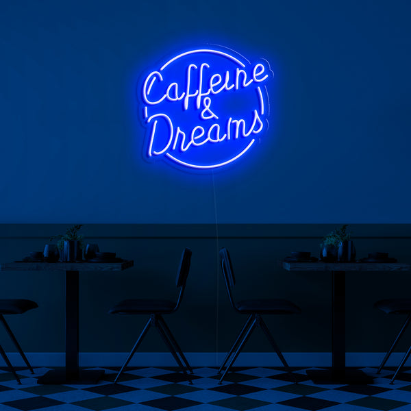 'Caffeine Dreams' Neon Sign