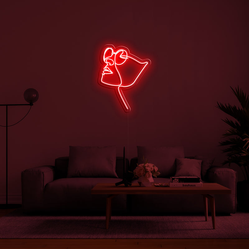 'Four Eyes' Neon Sign