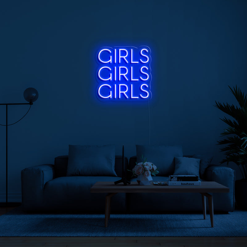 'Girls Girls Girls' LED Neon Sign