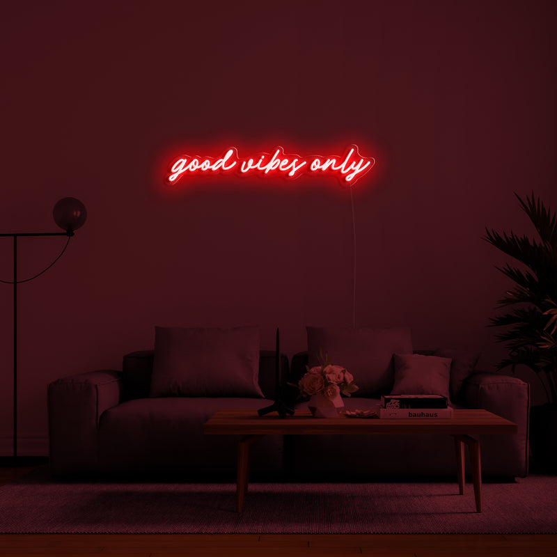 'Good Vibes Only' LED Neon Sign