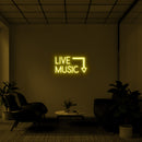 'Live Music' LED Neon Sign