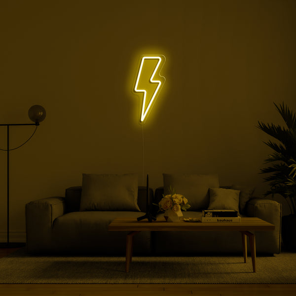 'Lightning Strike' LED Neon Sign