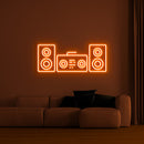 'Music System' LED Neon Sign