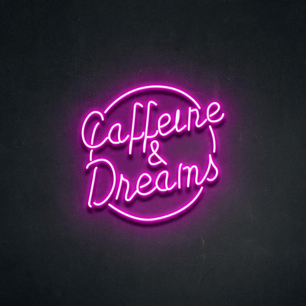 'Caffeine Dreams' Neon Sign-Neon Beach