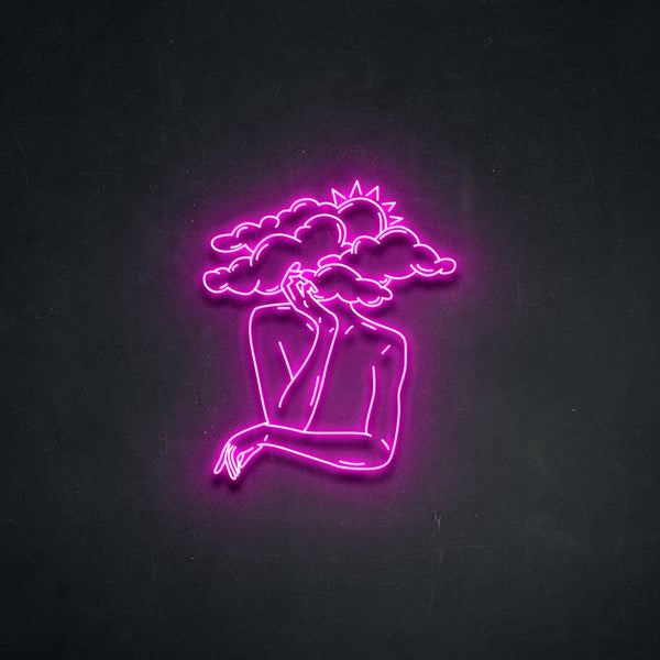 'Head in Clouds' Neon Sign-Neon Beach