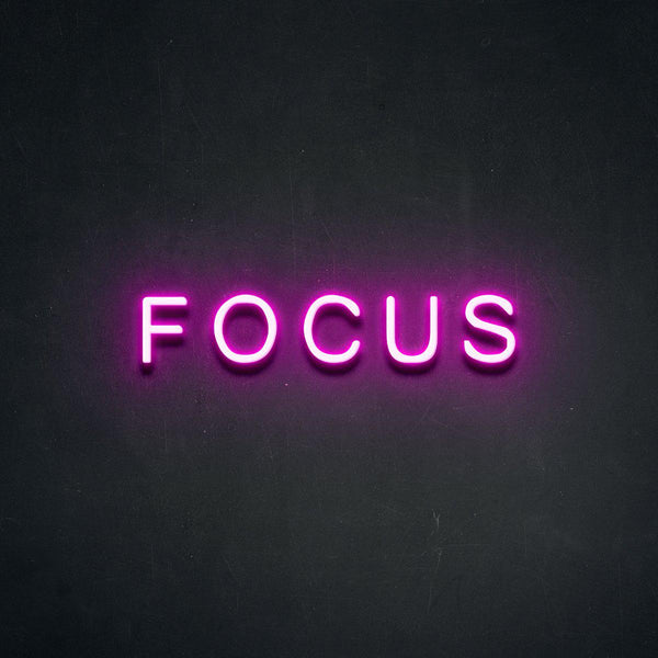 'FOCUS' Neon Sign-Neon Beach