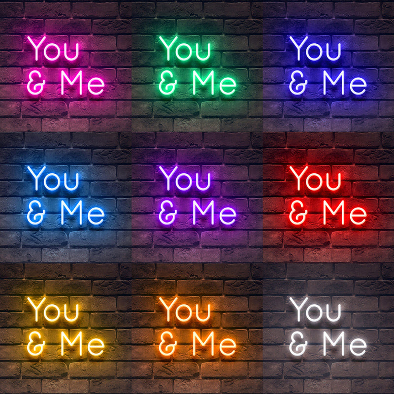 'You _ Me' Neon Sign-Neon Beach
