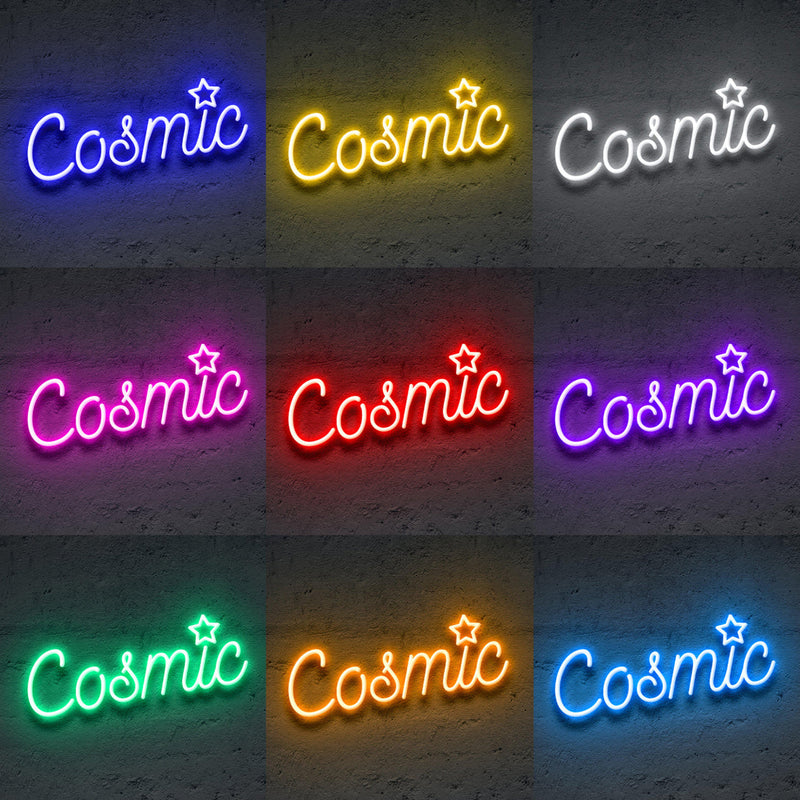 'cosmic' Neon Sign-Neon Beach