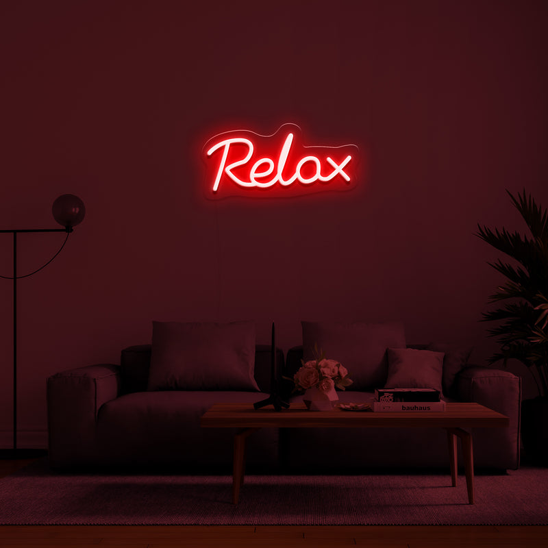 'Relax' LED Neon Sign