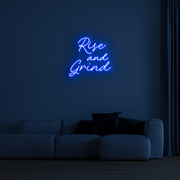'Rise And Grind' LED Neon Sign