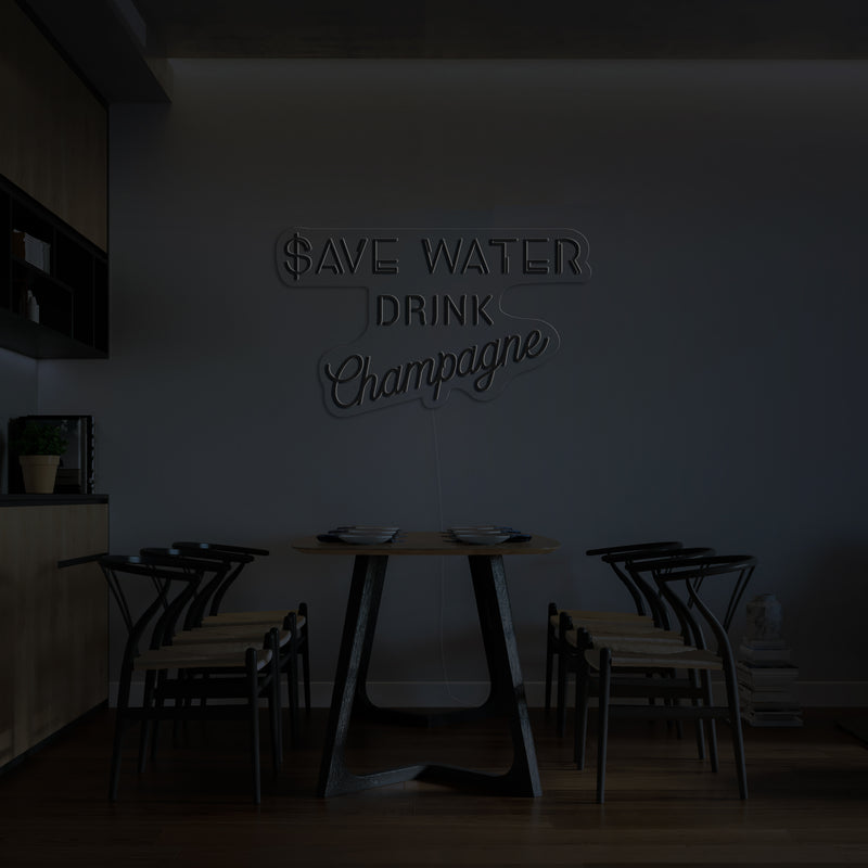 'Save Water' LED Neon Sign