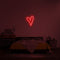'Script Heart' LED Neon Sign