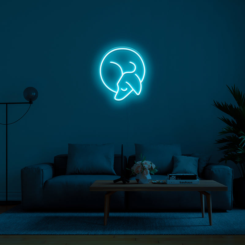 'Sleepy Dog' Neon Sign