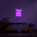 'This Is Our Happy Place' LED Neon Sign
