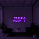 'To the moon' LED Neon Sign