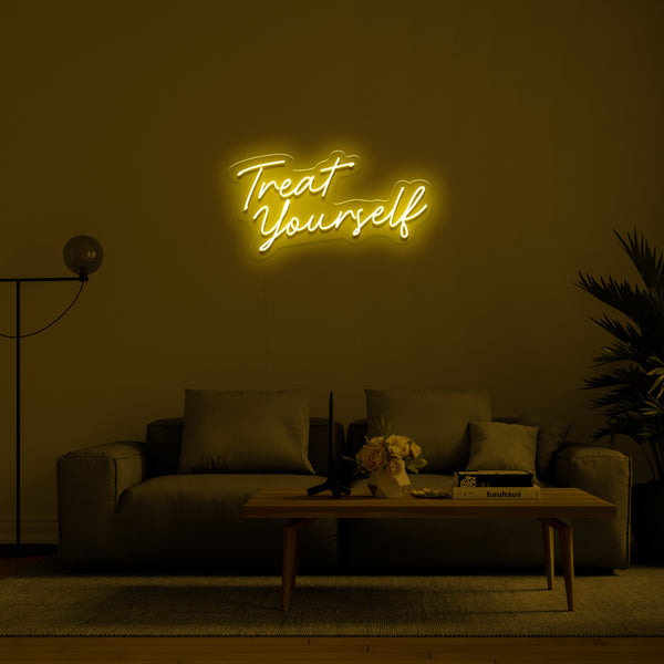 'Treat Yourself' LED Neon Sign