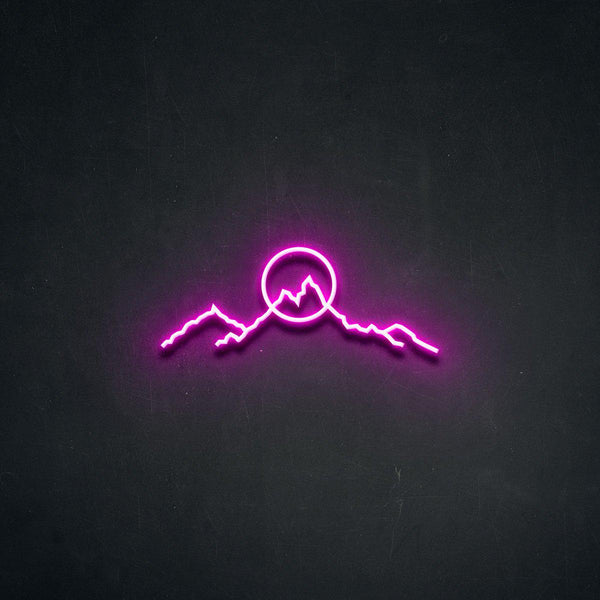 'Mountainscape' Neon Sign-Neon Beach