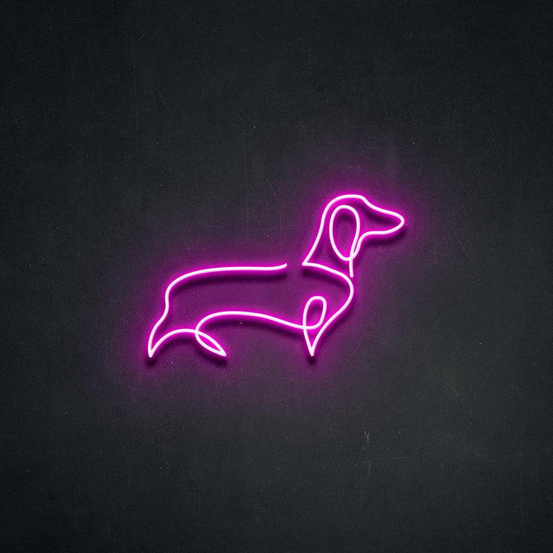 'Dachshund' Neon Sign-Neon Beach