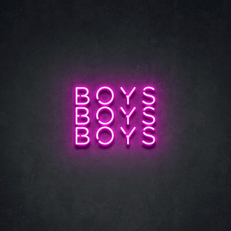 'BOYS BOYS BOYS' Neon Sign-Neon Beach