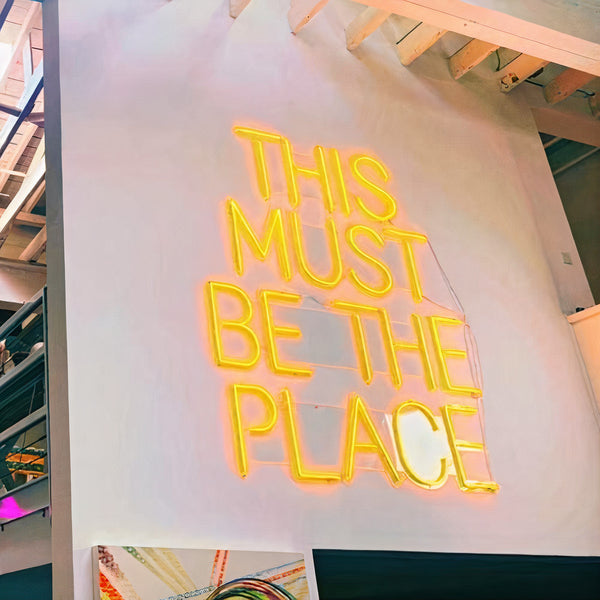 'THIS MUST BE THE PLACE ' Neon Sign
