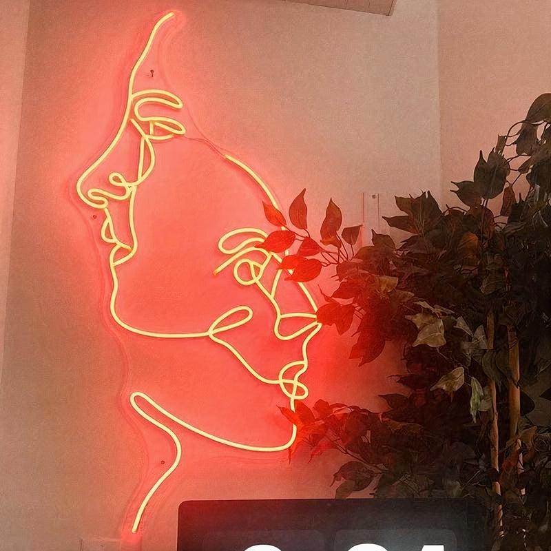 'Two Face' LED Neon Sign