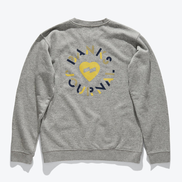 Heart Circles Crew Graphic Fleece Fleece