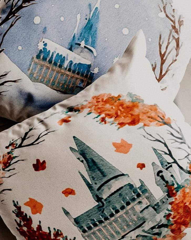 Seasons at the Castle Reversible Pillow