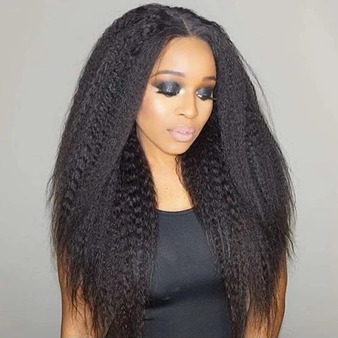 wigs, lace front wigs, human hair wigs, kinky straight wig