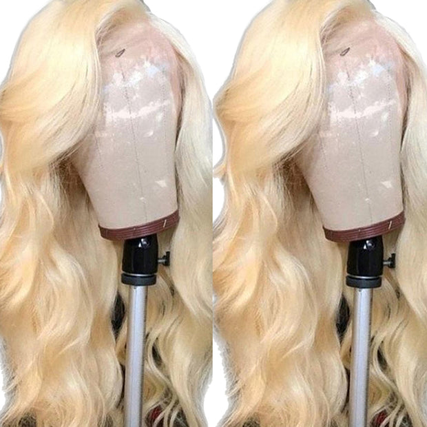 #613 Blonde Body Wave Lace Front Wig Human Hair Wigs (10A)-WigNice-Human Hair Wigs