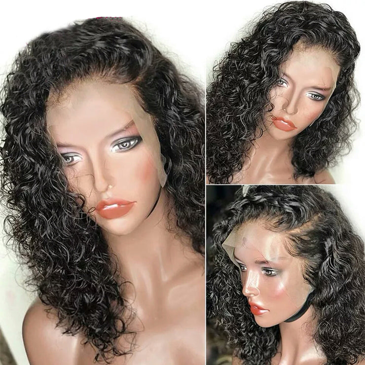 Water Wave Lace Front Wigs Natural Color 10-14 Inch-WigNice-Human Hair Wigs