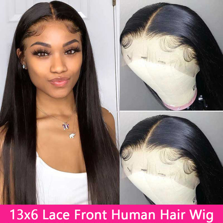 Natural Lace Front Human Hair Wigs 16inch