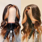 1B/4/27 Ombre Loose Wave Lace Front Human Hair Wig 22inch