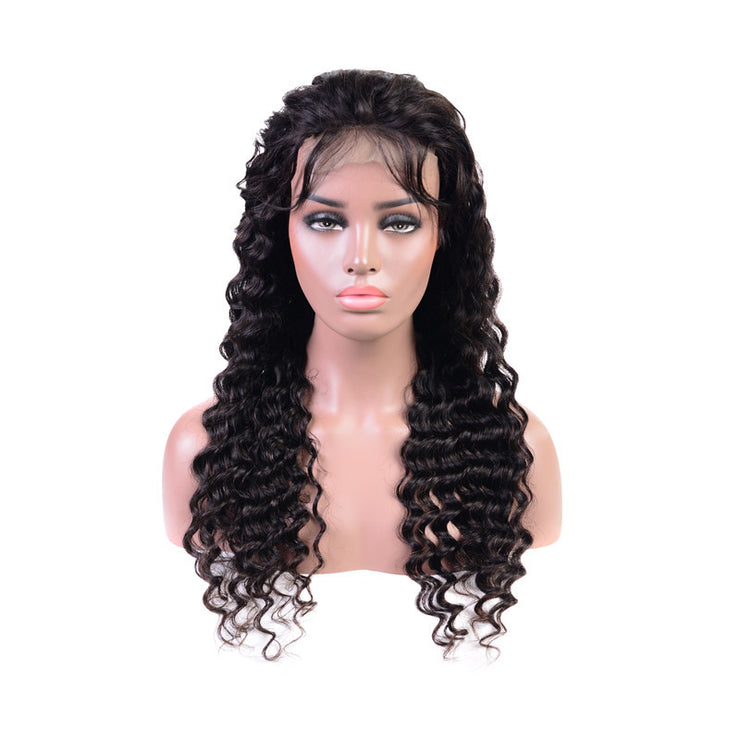 Deep Wave 4x4 Lace Closure Wigs 100% Human Hair Wigs-WIGNICE-Human Hair Wigs