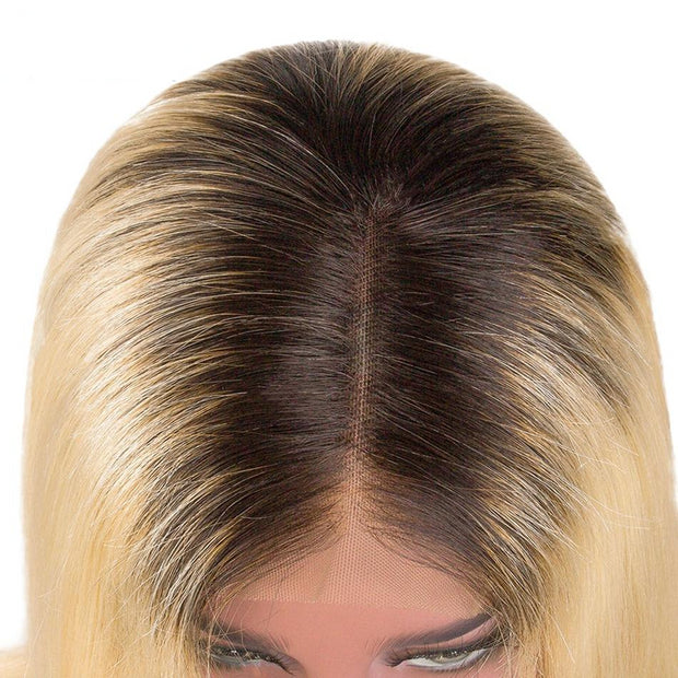 613 Blonde Lace Front Wigs Ombre Human Hair Wigs 8-32inch (10A)-WigNice-Human Hair Wigs