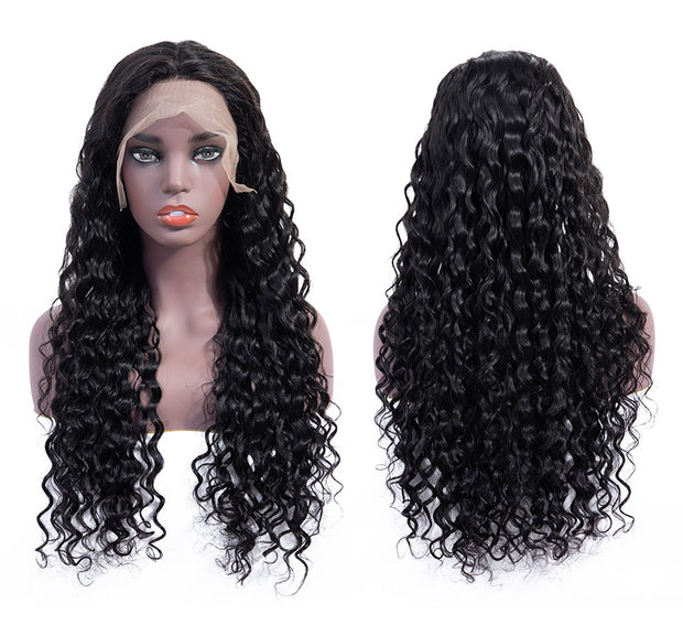 Natural Color Wavy Lace Front Human Hair Wig-WIGNICE-Human Hair Wigs