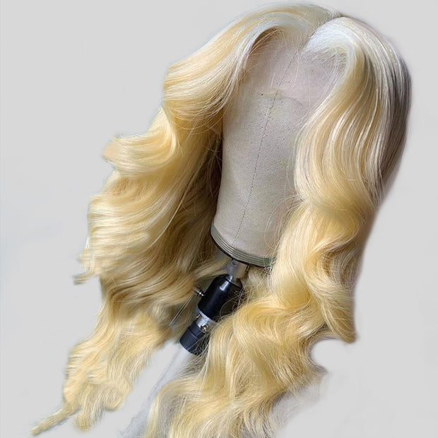 Blonde Body Wave Transparent Lace Front Human Hair Wig